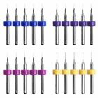 10Pc 3D Nozzle Cleaning Tool 0.2/0.3/0.4/0.5mm Drill Bit For Extruder Printer