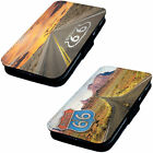 Route 66 Designs - Printed Faux Leather Flip Phone Cover Case