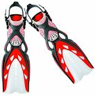 Mares X-Stream Adjustable Open Heel Scuba Diving Fins with ABS Straps - SMALL