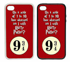 Scale of 1 - 10... Harry Potter Rubber and Plastic Phone Cover Case. Platform 9