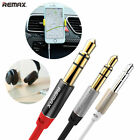 Remax 3.5mm Audio Aux Cable TPE Cable Light & Gold plated Stable Aux cable 2m