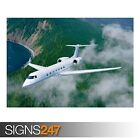 GULFSTREAM G550 (AA021) AIRCRAFT POSTER - Photo Poster Print Art A0 A1 A2 A3 A4