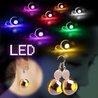 1 Pair LED Glowing Ear Studs Light Up Round Earrings Bling Dance Party Xmas