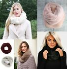 New Super Soft snood fine faux fur scarf Black Cream Beige Grey UNISEX