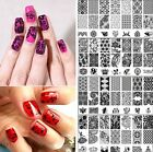 20 Design DIY Stencil Nail Art Image Stamp Stamping Plate Manicure Template Tool