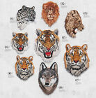 Lion Tiger Leopard Wolf Iron-On Embroidered Applique Biker Patch