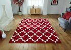 Arab Moroccan Style Red Cream Quality Thick Rug Runner Comes In 4 Sizes