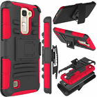 Shock Absorbing Heavy Combo Kickstand Case Cover Shell For LG Tribute 5 / K7