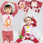 "Vaenait Baby Toddler Kid Girl Clothes Sleepwear Pajama Set ""Oh Fox Duck"" 12M-7T"