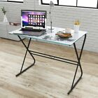 Computer Desk Glass Table Home Office Study Furniture World Map/Rainbow Pattern