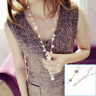 Fashion Women Pearl Flower Sweater Chain Long Pendant Necklace New Jewelry AU