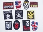 Misfits Sew Iron On Patch Embroidered Punk Rock Band Heavy Metal Badge Music