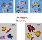 ASSORTED FISH - CERAMIC MOSAIC TILES for your Project ( Pick you Group ) # 15