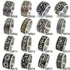 band sr-71 - US Seller Men's Vintage Silver or Gold Stainless Steel Designed Band Ring HS29
