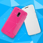 Nillkin Luxury Flip PU Leather + PC Shockproof Skin Cover Case For MOTO G4 Play