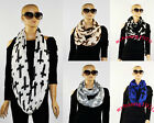 New Style Chic Cross Printed Light weight Women's Loop Scarf Shawl--5 Color