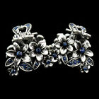 2X small vintage jewelry claw hair barrette clip crystal comb bride tiara women