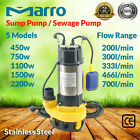 Marro Stainless Steel 450w - 2200w Automatic Submersible Sump/Dirty Water Pump