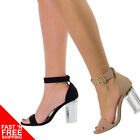 Oya1 Lucite Acrylic Clear Block Heel Dress Sandal, Open Toe Transparant Perspex