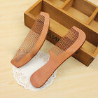 Handmade Anti-Static Head Sandalwood Wooden Peach Wood Wide Tooth Comb Massage
