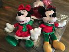 """Disney Holiday Collectors 8"""" Plush Christmas Minnie &/or Mickey Mouse NEW KCare"""