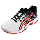 Juniors` Gel Resolution 5 Tennis Shoes White and Fiery Red