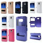 Silk Leather Wallet Flip Stand Case Cover Skin for Samsung Galaxy S6 / S6 Edge