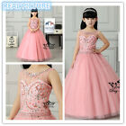 Pageant Party Wedding Flower Girl Dress for Birthday Princess Prom Bridesmaid