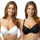 Gorgeous Dd+ Womens Pack Of Two Black And White Lace Trim T-Shirt Bras