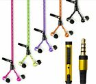 Zipper Stereo In-Ear Earbud Headphones With Mic For IPhone 6/5 Earphone Headset