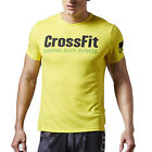 Reebok Crossfit Mens Forging Elite Short Sleeve Training T-Shirt Tee Yellow