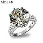 Mdean Big Cz Diamond Jewelry White Gold Filled Rings Luxury Engagement Wedding B
