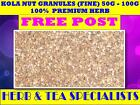 KOLA NUT GRANULES (FINE) 50G - 100G ☆ PREMIUM STOCK ☆ cola nitida ☆ FREE POST $11.28 AUD on eBay