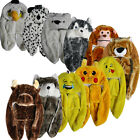 CHILDRENS ANIMAL SNOODS 6 DESIGNS (HAT SCARF AND GLOVES ALL IN ONE ) very warm
