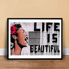 LIFE IS BEAUTIFUL GRAFFITI STREET SPRAY ART POSTER GIFT BANKSY MR BRAIN WASH