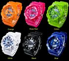Skmei Women Men Rubber Strap Digital LED Outdoor Sport Analog Watch Waterproof