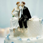 Whimsical Sitting Barefoot Wedding Cake Top Topper Choice of Skin Color