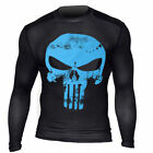 Punisher 3D Printed T-shirts Men Compression Shirts Long Sleeve Cosplay Tops