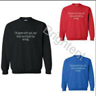 Men Women Id Agree With You But Then We'd Both Be Wrong  Pullover DSWDK-V447
