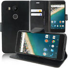 Cover Wallet Case Flip Book Folio Integrated support for LG Nexus 5X