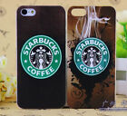 For iPhone 4 4S 5 5S smoking starbucks coffee  circle Back Cover Case Skin