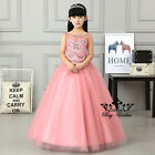 Pageant Party Birthday Prom Girls Brides Wedding Flower Girl Dress