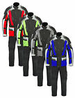 Mens Motorcycle Motorbike Waterproof Textile Jacket & Trousers Suit 2 Piece Set