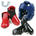 4 PIECE MARTIAL ARTS SPARRING KIT, ALL 1 X SHIN PADS, HEAD GEAR, GLOVES, KICKERS