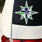 Seattle Sports Combined Decal Seahawks, Mariners Qty Discounts WoW large 8 inch on Ebay