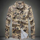 Fashion Men's High Quality Floral Long Sleeve Big Size Business Casual Shirts