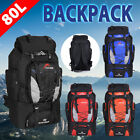 80L Load Waterproof Rucksack Backpack Bag Luggage Hiking Camping Travel Outdoor