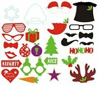 27pcs Christmas Party Selfie Photo Booth Prop Set Mustache Lip On A Stick Party