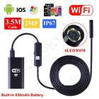 LOT 6LED Waterproof WiFI Borescope Inspection Endoscope snake Camera For iPhone