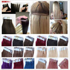 "20pc/50g 16""-24"" Remy AAA Tape In 100% Human Hair Extensions Straight Hair"